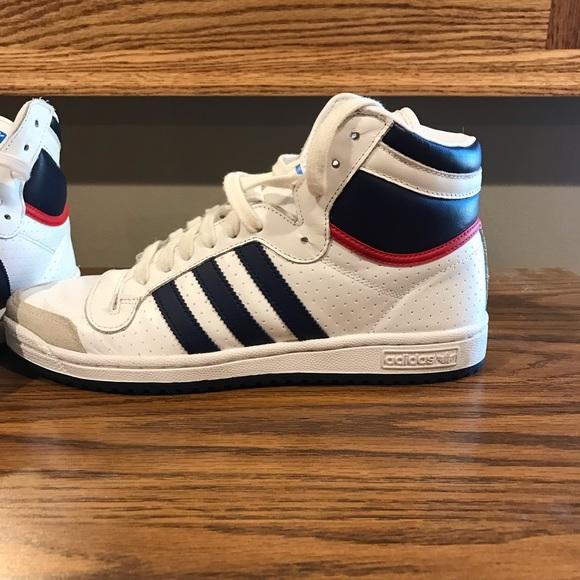 adidas high sneakers vintage